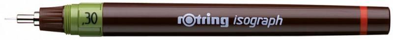 Изограф пластиковый Rotring съемный пишущий узел, заправка тушью, цвет: бордовый, 0.3 мм биотуалет заправка