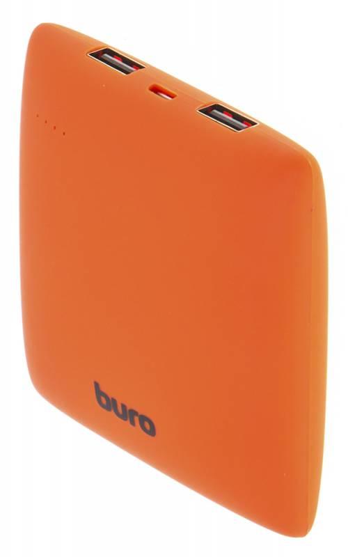 Мобильный аккумулятор Buro RA-7500PL-OR Pillow Li-Ion 7500mAh 2.1A оранжевый 2xUSB аккумулятор внешний buro pillow ra 7500pl pu purple page 7