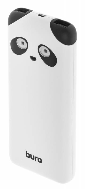 лучшая цена Мобильный аккумулятор Buro RA-10000PD-WT Panda Li-Pol 10000mAh 2.1A+1A белый 2xUSB