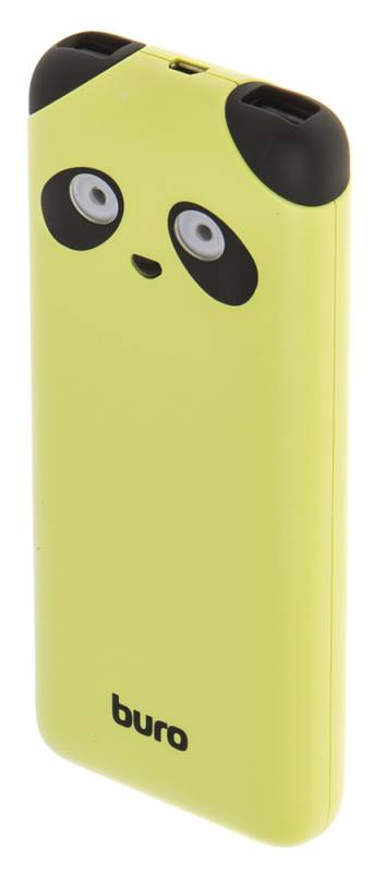 лучшая цена Мобильный аккумулятор Buro RA-10000PD-GN Panda Li-Pol 10000mAh 2.1A, 2xUSB, RA-10000PD-GN, 474957, лайм
