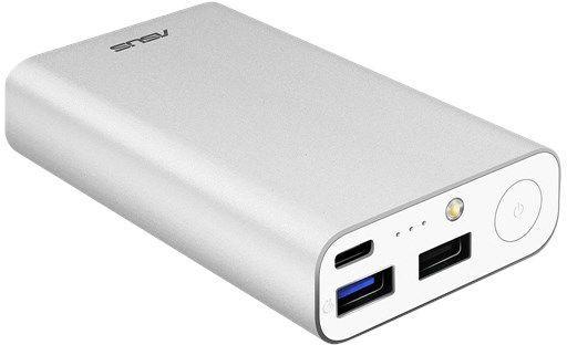 Мобильный аккумулятор Asus ZenPower ABTU012 Li-Ion 10050mAh 3A+2A+1A, 2xUSB, 90AC02V0-BBT008, серебристый аккумулятор asus zenpower ultra 20100mah silver 90ac00m0 bbt020