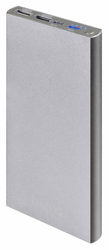 Мобильный аккумулятор Buro RA-12000-AL Li-Pol 12000mAh 2.1A+1A, цвет: серебристый аккумулятор awei p58k wireless 12000mah black 88242