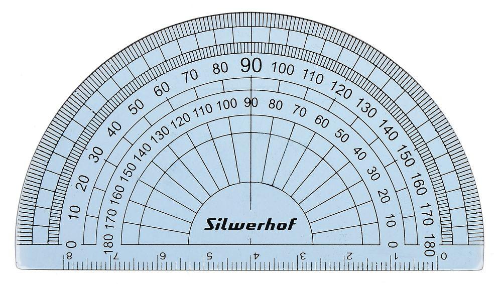 Транспортир Silwerhof Пластилиновая коллекция, пластик, 8 см, цвет: прозрачный цена