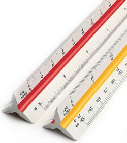Линейка Rotring Centro Surveying, 818312, трехгранная шкала, 30 см