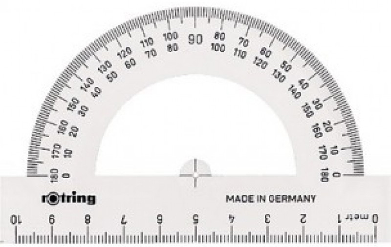 Транспортир Rotring CENTRO S0221230, пластик, полукруглый