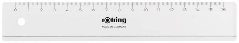 Линейка Rotring Centro Flat Ruler S0220870, 818313, прозрачный, 16 см Rotring