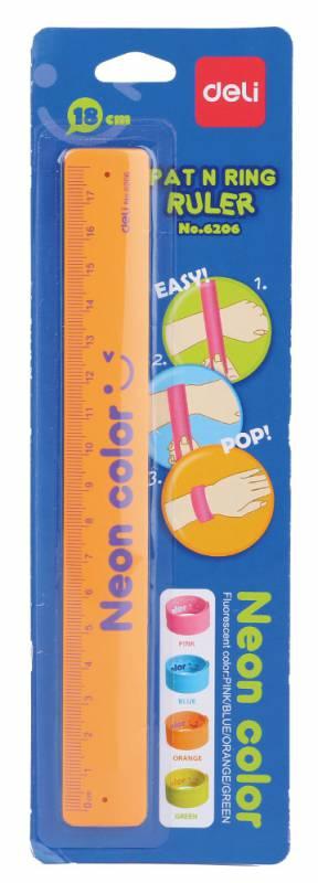 Линейка-браслет Deli E6206, 436303, гибкая, 18 см [6416] 5pcs lot multi color bracelet hair accessories girl headband clips gum weave baffle braided bow bandana ornaments