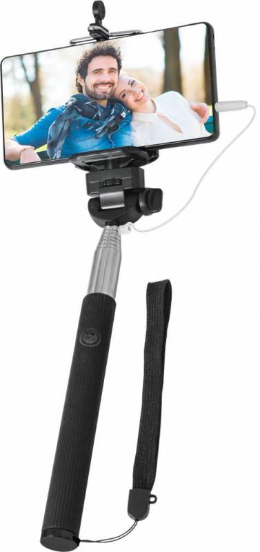 Монопод для селфи Selfie Master, черный штатив монопод buro selfie ручной ss bt bu голубой серебристый
