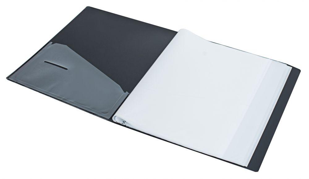 Папка Silwerhof Perlen 292980-77, с 80 прозрачными вкладышами, 1006907, серебристый металлик, А4