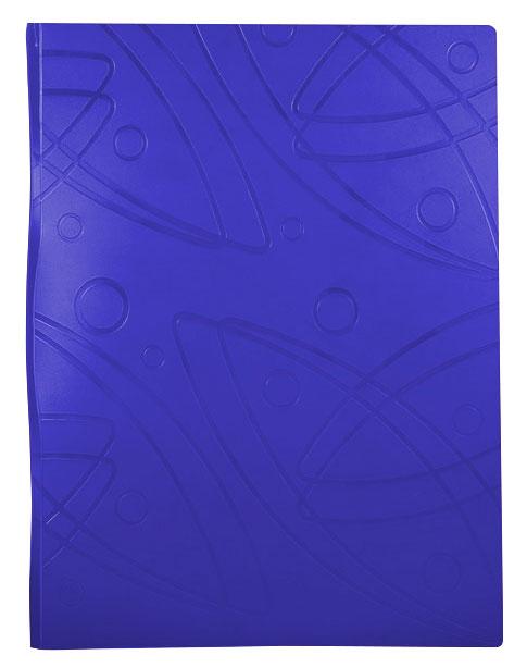 Папка  Бюрократ, 20 прозрачных вкладышей, формат А4, цвет: синий-GA20BLUEПапка с 20 прозр.вклад. Бюрократ Galaxy -GA20BLUE A4 пластик 0.7мм синий