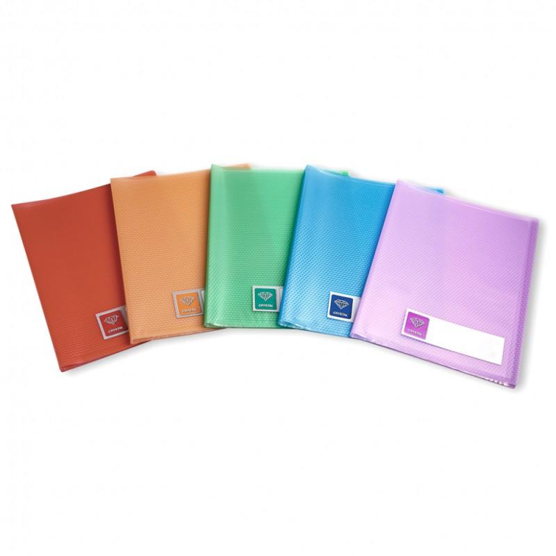 Папка Бюрократ, 40 прозрачных вкладышей, формат А4, цвет:фиолетовый-CR40VIOПапка с 40 прозр.вклад. Бюрократ Crystal -CR40VIO A4 пластик 0.5мм фиолетовый