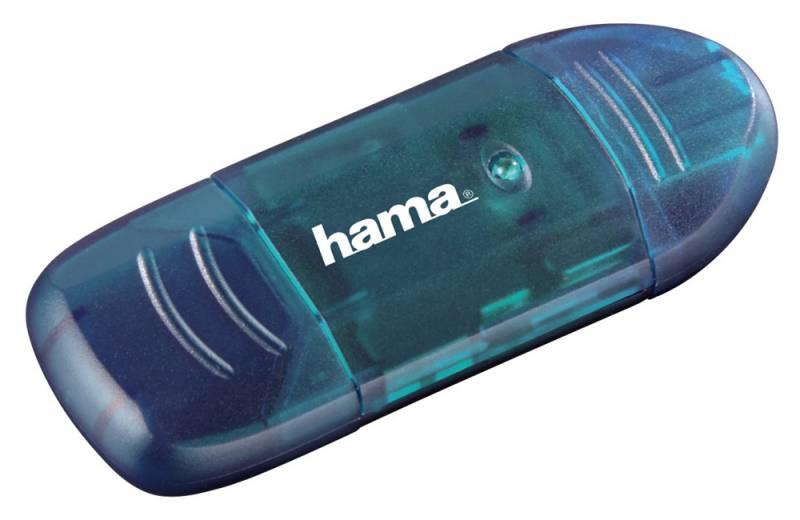 Устройство чтения карт памяти Hama H-114730 USB2.0, 00114730, синий шредер hama premium h 50189 50189