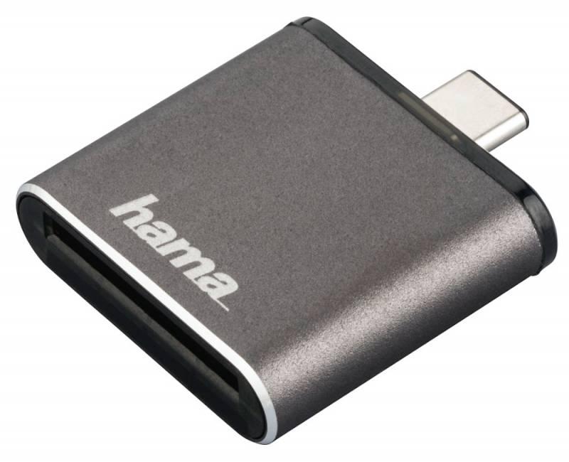 Устройство чтения карт памяти USB3.1 Hama H-124186 серый hama h 103448 black