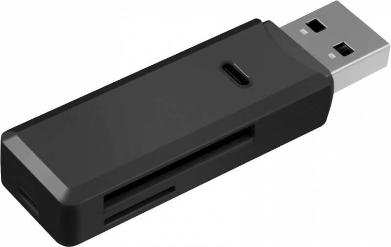 Устройство чтения карт памяти Ginzzu USB3.0, GR-311B, черный цена