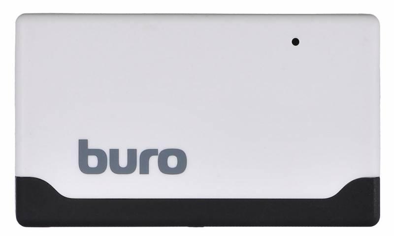 Устройство чтения карт памяти Buro USB2.0, BU-CR-2102, белый устройство чтения карт памяти buro usb3 0 bu cr hub3 u3 0 c004 черный