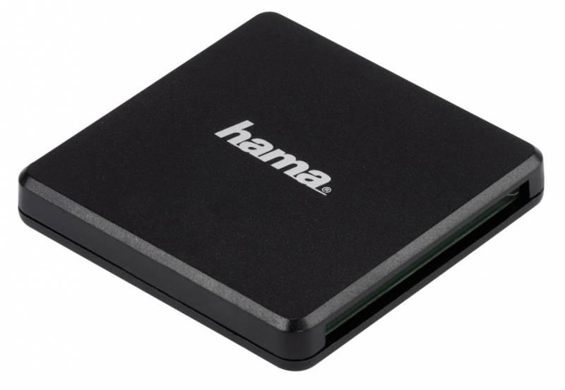 лучшая цена Устройство чтения карт памяти Hama Multi H-124022 USB3.0, 00124022, черный