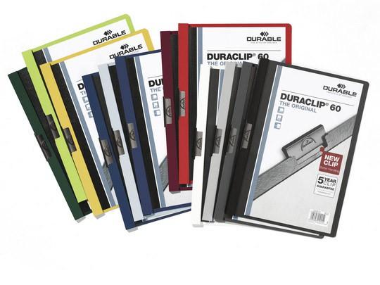 Папка с клипом Durable Duraclip, A4, цвет: белый. 2209-02