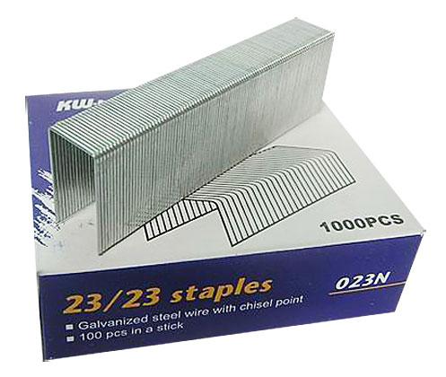Скобы для степлера Kw-Trio 023N 23/23, 1000 шт скобы для степлера 23 15 kw trio 023f упаковка 1000 шт