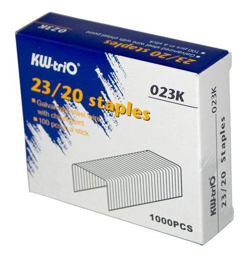 Скобы для степлера 23/20 KW-TRIO, 1000 шт скобы для степлера 23 15 kw trio 023f упаковка 1000 шт