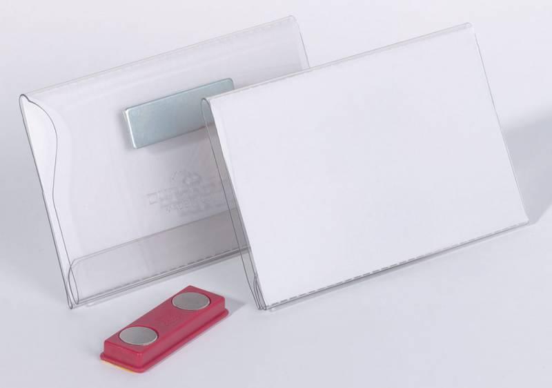 Бейдж Durable 8117-19, горизонтальный, магнитный, 54 х 90 мм, 25 шт