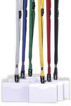 Бейдж Durable, горизонтальный, цвет шнура: темно-синий, 60х90мм, 10 шт