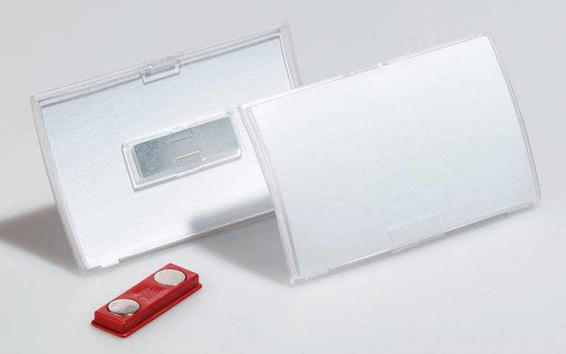 Бейдж Durable 8215-19 Click Fold, магнитный полипропилен, 54х90 мм, цвет: прозрачный, 10 шт pci 8215