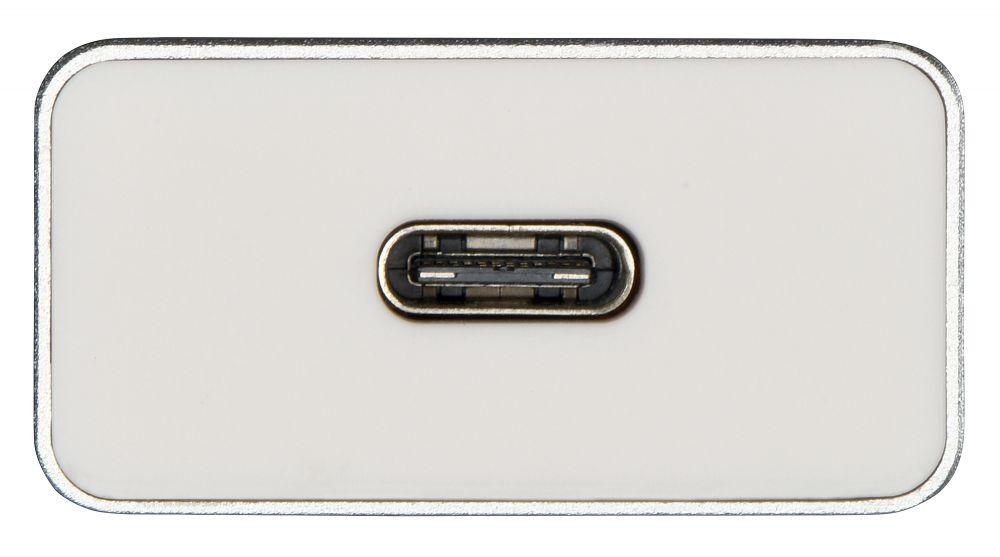 Разветвитель Hama Aluminium USB-C, цвет белый