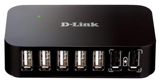 Разветвитель D-Link DUB-H7 USB 2.0, 87768, черный концентратор usb 3 0 d link dub 1370 7 x usb 3 0 черный