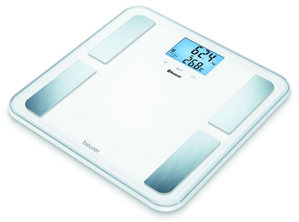 Весы напольные электронные Beurer BF850, максимальный вес 180 кг, цвет: белый весы напольные beurer bf710 электронные до 180 кг цвет белый бирюзовый