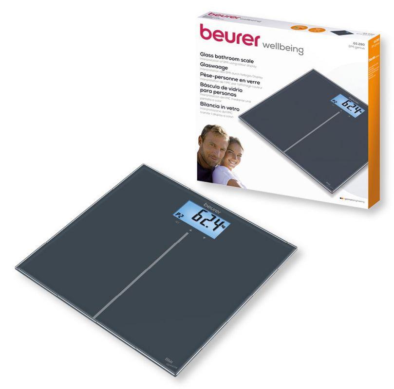 Весы напольные Beurer GS280 BMI, черный весы напольные beurer bf600 style