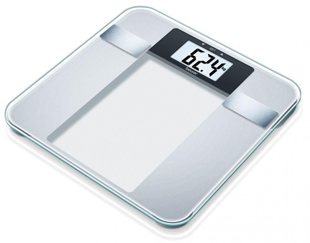 Весы Beurer BG13 760.30 напольные электронные, цвет серебристый весы напольные электронные gs 300 beurer чёрные
