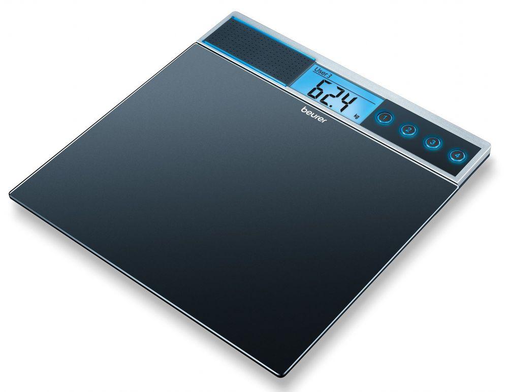Весы Beurer GS39 напольные электронные, макс. 150 кг, цвет: черный весы напольные электронные gs 300 beurer чёрные