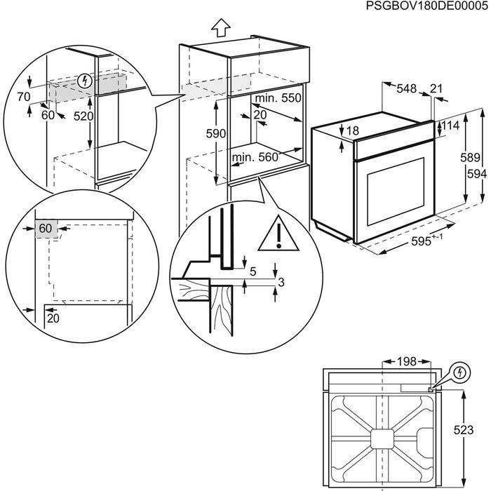 Встраиваемый духовой шкаф Zanussi OPZB4334X, серебристый