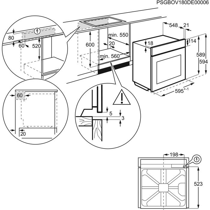 Встраиваемый духовой шкаф Zanussi OPZB4334B, черный