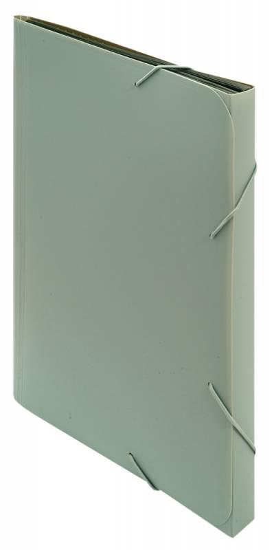 Папка-портфель Бюрократ -BPR6GREY, A4, пластик, 0.7 мм, 6 отделений, цвет: серый папка портфель бюрократ bpp6lgrn 6 отделений a4 зеленый