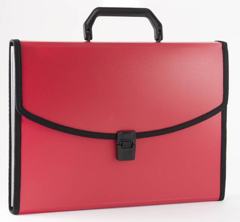 Папка-портфель Бюрократ BPP6LRED, 6 отделений, A4, цвет: красный папка портфель бюрократ bpp6lgrn 6 отделений a4 зеленый