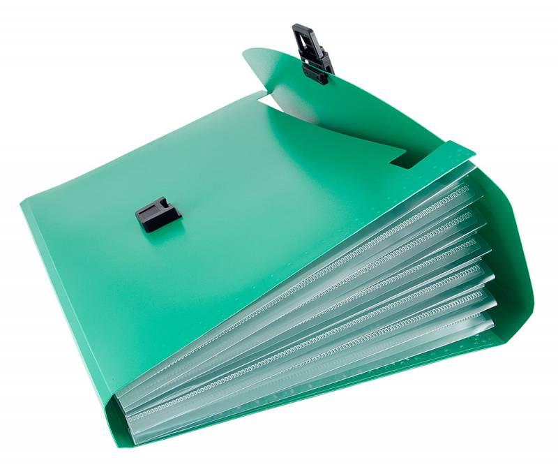 Папка-портфель Бюрократ -BPP6GRN, 6 отделений, A4, зеленый папка портфель бюрократ bpp6lgrn 6 отделений a4 зеленый