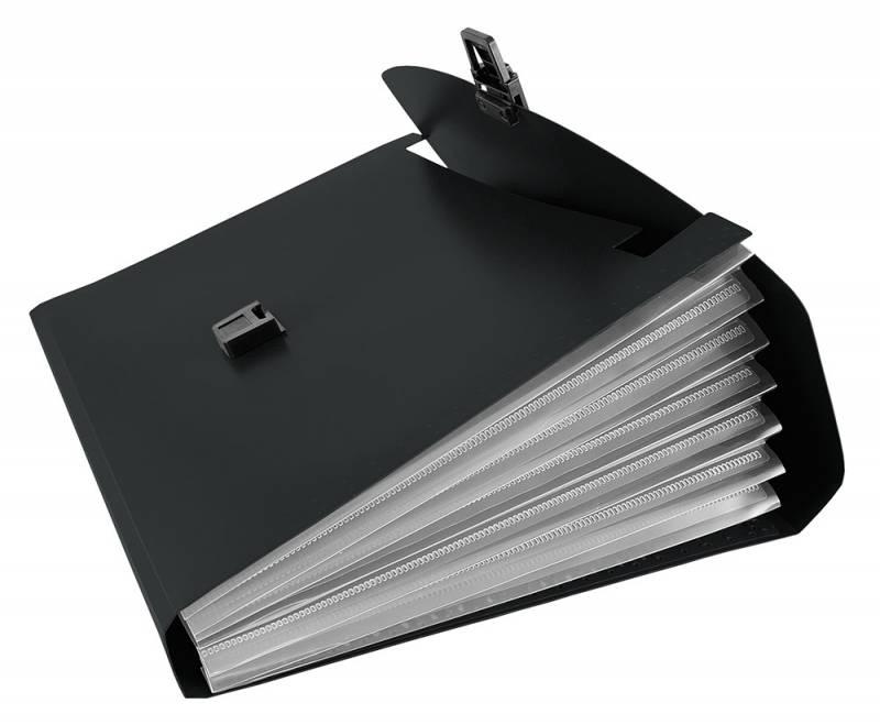 Папка-портфель Бюрократ-BPP6, 6 отделений, A4 папка портфель бюрократ bpp6lgrn 6 отделений a4 зеленый