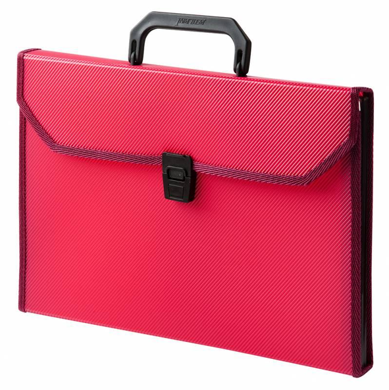 Папка-портфель Бюрократ-BPP6TLRED, 6 отделений, A4, красный папка портфель бюрократ bpp6lgrn 6 отделений a4 зеленый