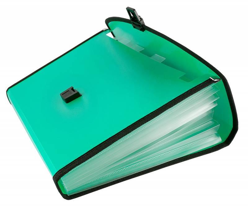 Папка-портфель Бюрократ-BPP6LGRN, 6 отделений, A4, зеленый папка портфель бюрократ bpp6lgrn 6 отделений a4 зеленый