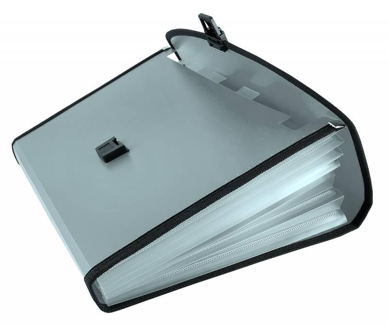 Папка-портфель Бюрократ-BPP6LGREY, 6 отделений, A4, серый папка портфель бюрократ bpp6lgrn 6 отделений a4 зеленый