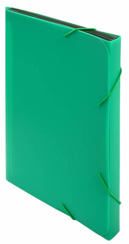 Папка-конверт Бюрократ-BPR6GRN на резинке, 6 отделений, A4, зеленый папка портфель бюрократ bpp6lgrn 6 отделений a4 зеленый
