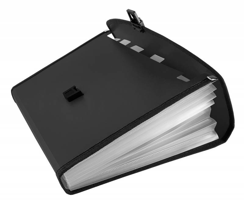 Папка-портфель Бюрократ-BPP13L, цвет в ассортименте, 13 отделений, A4