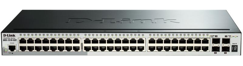 Коммутатор управляемый D-Link DGS-1510-52X/ME/A1A 48G 4SFP+, 354617 d link dgs 1510 20 a1a