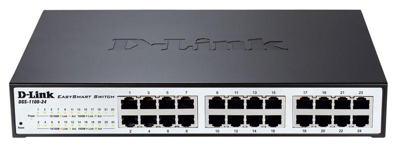 Коммутатор D-Link DGS-1100-24/B2A 24G, настраиваемый, 664468