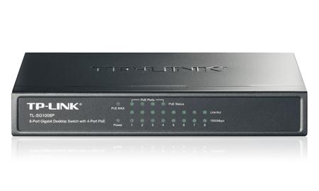 Коммутатор TP-Link TL-SG1008P 8G 4PoE 55W, неуправляемый, 846072 коммутатор tp link tl sg2008