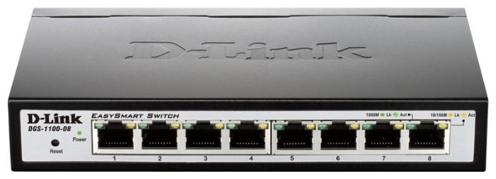 Фото - Коммутатор D-Link DGS-1100-08/B1A 8G, управляемый, 736179 коммутатор d link управляемый dgs 1210 52mpp me b1a