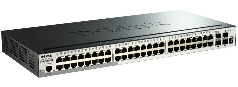 Коммутатор D-Link DGS-1510-52X/A1A 48G 4SFP+ управляемый