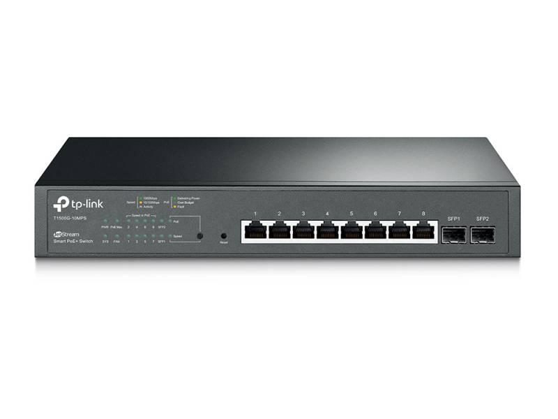 Коммутатор TP-Link JetStream T1500G-10MPS 8G 2SFP 8PoE+ 116W управляемый коммутатор tp link t2500 28tc tl sl5428e jetstream управляемый l2 коммутатор на 24 порта 10 100 мбит с с 4 гигабитными портами