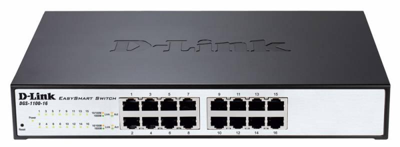 Коммутатор D-Link DGS-1100-16/B2A 378004 16G управляемый, 378004